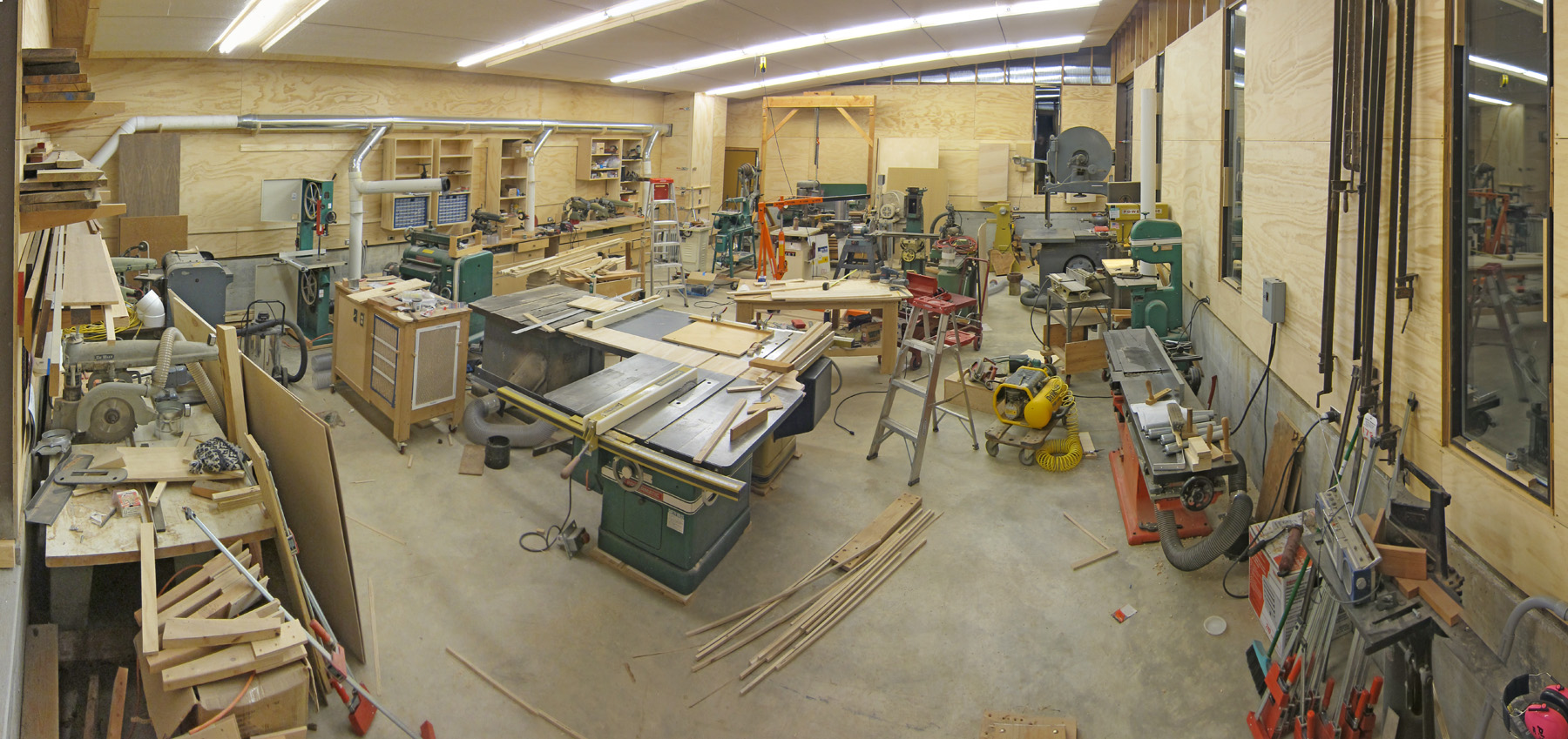 setting up a woodshop